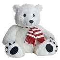 "Aurora 12"" Peppermint Polar Bear - White"