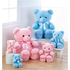 "Aurora 10"" Comfy Bear - blue (small)"