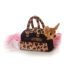 "8"" Fancy Pals Chihuahua with Pet Carrier"