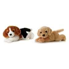 "Aurora 8"" Homer Beagle Dog (shown left)"