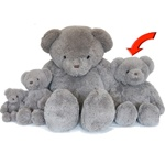"Beverly Hills Teddy Bear Deluxe 20"" Gray Belvedere"