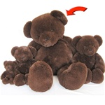 "Beverly Hills Teddy Bear Deluxe 36"" Chocolate Belvedere"