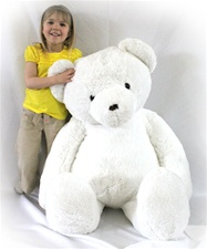 "Beverly Hills Teddy Bear Deluxe 48"" White Belvedere Bear - Jumbo"