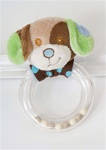 Douglas Blue Dog Rattle 5 x 3 in. (Discontinued)