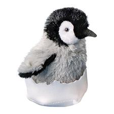 "Douglas 6"" Tall Pip Emperor Penguin Chick in 1/2 Egg Shell"