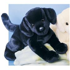 "Douglas 16"" Floppy Chester Black Lab Dog"