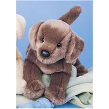 "Douglas 16"" Floppy Cocoa Chocolate Lab Dog"