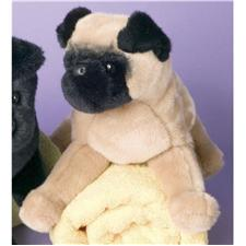 "Douglas 16"" Muggins Cream Pug Dog (D)"