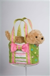 "Douglas 7"" Peppermint Candy Tote"
