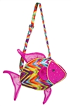 "Douglas 10"" Tropical Fish Sillo Purse"