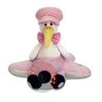 "11"" Airborn Stork - Baby Girl sings ""Hush Little Baby"""