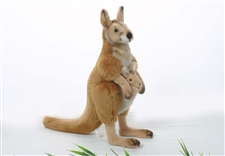 "13"" Hansa Kangaroo Mom-Joey (Ark)"