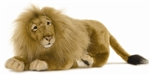 "22"" Hansa Lion Male Medium Lying"