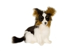 "17"" Hansa Papillion Dog Black"