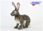 "9"" Hansa Jack Rabbit Grey"