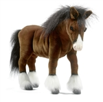 "20"" Hansa Clydesdale Horse"