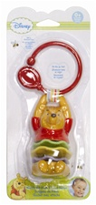 "Disney 8"" Kids Preferred Winnie the Pooh Clip on Rattle"