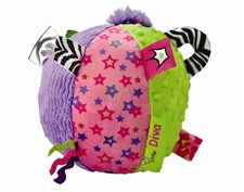 "8"" Kids Preferred Label Loveys Diva Large Ball (D)"