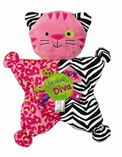 "12"" Kids Preferred Label Loveys Diva Kitty Comfort Cuddly"