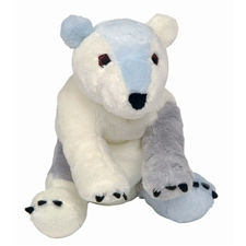 "7"" Kids Preferred Eric Carle  Polar Bear bean bag toy"