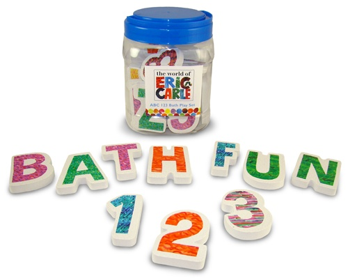 Kids Preferred Eric Carle Foam ABC 123 Bath Playset-36 Piece Set tha ...