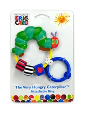 "7"" Kids Preferred Eric Carle plastic attachable ring rattle"