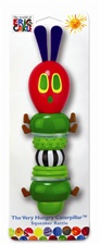 "9"" Kids Preferred Eric Carle plastic stick rattle caterpillar"