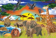 Melissa & Doug 200 pc Safari Adventure Cardboard Jigsaw