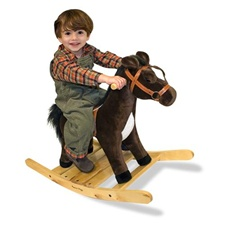 Melissa & Doug Rock and Trot Rocking Horse - Plush