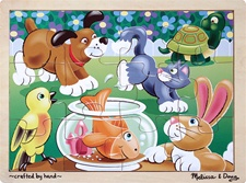 Melissa & Doug Playful Pets Jigsaw (12 pc)