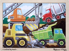 Melissa & Doug Construction Site Jigsaw (12 pc)