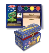 Melissa & Doug Wooden Treasure Chest - DYO