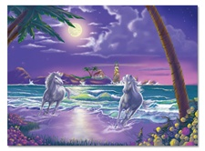 Melissa & Doug 500 pc Seaside Stallions Cardboard Jigsaw