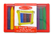 Melissa & Doug Triangular Crayon Set (12 pc)