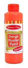Melissa & Doug Orange Poster Paint (8 oz)
