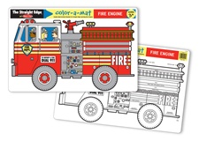 Melissa & Doug Fire Engine Color-A-Mat (Bundle of 6)