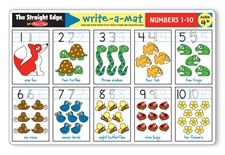 Melissa & Doug Numbers 1-10 Write-A-Mat (Bundle of 6)