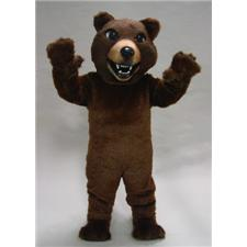 Mask U.S. Brown Grizzly Mascot Costume