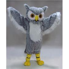 Mask U.S. Grey Owl Mascot Costume