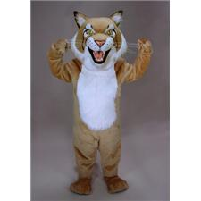 Mask U.S. Tan Bobcat Mascot Costume