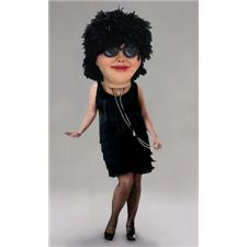 Mask U.S. Flapper Mascot Costume