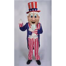 Mask U.S. Uncle Sam Mascot Costume