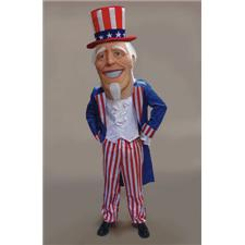 Mask U.S. Uncle Sammy Mascot Costume