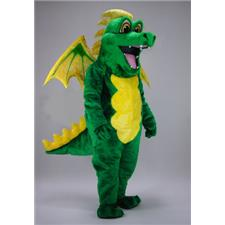 Mask U.S. Green Dragon Mascot Costume