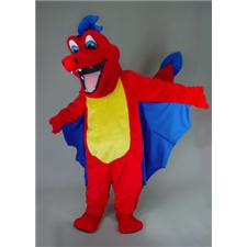 Mask U.S. Red Dragon Mascot Costume