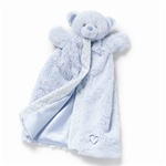 "12"" Nat & Jules Blue Bear Puppet Blanket"