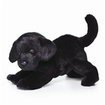 "11.5"" Nat & Jules Black Lab Dog"