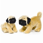 "9.5"" Nat & Jules Pug Dog"