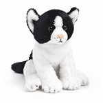 "5.5"" Nat & Jules Black & White Cat"