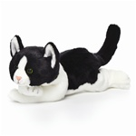 "11"" Nat & Jules Black & White Cat"